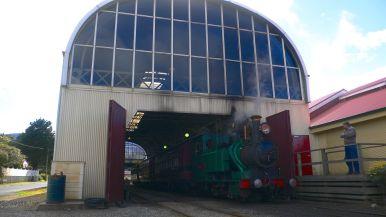 Steam engine at Queenstown