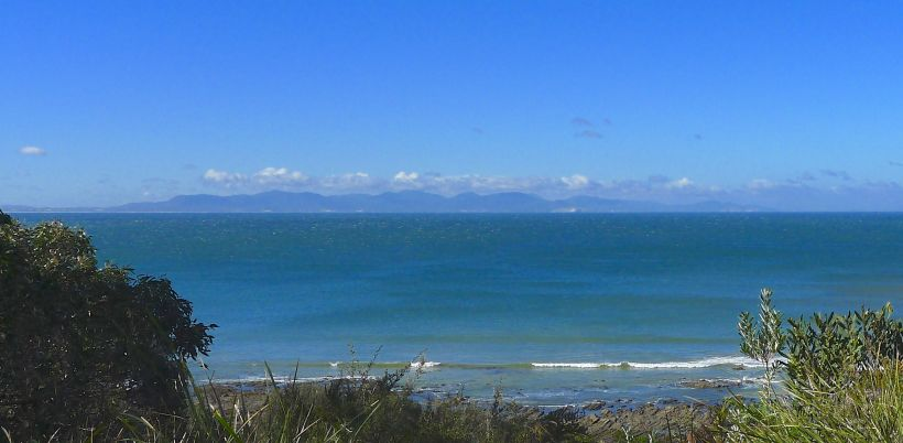 The Prom from Walkerville, across Waratah Bay - one of our mis-turns