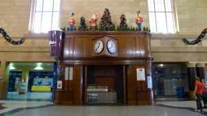 Adelaide Railway Station - festive decorations