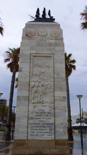 Memorial column, seaward-side