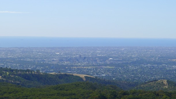 Yes, that's Adelaide there in the centre. In the middle of the green square. Squint a bit harder