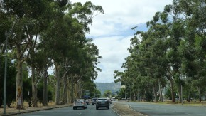 Leaving Adelaide - surrounding park & hills