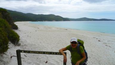 14/15 We've caught up with Neal & Elle. The campsite at Little Waterloo Bay is another 2.3km further on